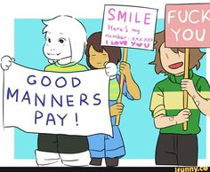 Undertale Asriel, Frisk and CHARA NO<<<<<Chara YES!!