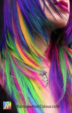 52 Cool Examples Rainbow Hair Styles