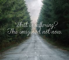 What is suffering? The imagined not-now.   —Byron Katie