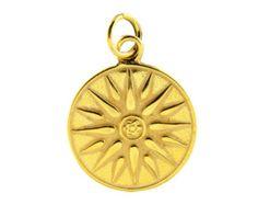 Varouxi  Black Enamel Vergina Sun Silver Ring Men Star of