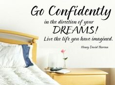vinyl wall decal quote Go confidently in by WallDecalsAndQuotes, $11.95