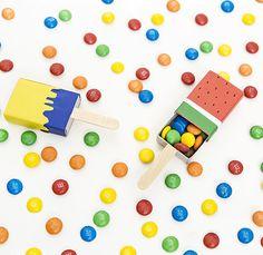 DIY-Anleitung: Bonbonverpackung in Eisform aus Streichholzschachteln basteln via DaWanda.com