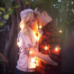 """""""Christmas Portraits: Making her Pinterest dreams come true. - - #christmas #love #lights #quiet #peace #beautiful #couples #timeless #portraits #happy…"""""""