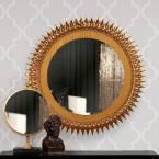 Howard Elliott 18 in. W x 30 in. H Medallion Gold Mirror 11213 at The Home Depot - Mobile