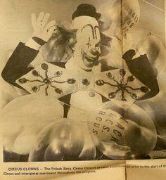 Polusa Polack Bros Circus 1968: Peluza the clown