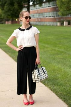 Cool Lots - black culottes outfit