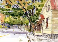 My summer was filled with travel to both theAtlantic and Pacific coastsbut that meant that I really didn't get my fill of sketching Montreal neighbourhoods like Lachine or Villeray or Pointe Clai...