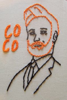 Conan O'Brien Wall Embroidery In hoop by toocrewel on Etsy, $30.00 #coco