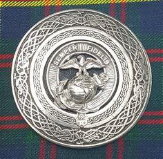 CC Kilt Pin//Kilt Belt Buckle /& Fly Plaid Brooch Masonic Badge Set Chrome Finish