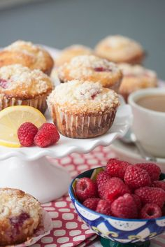 Raspberry-Lemon Streusel Muffins | Tide and Thyme