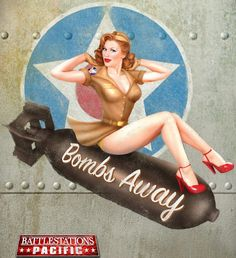 """Pin-up girl from World War II B-17 """"Flying Fortress"""" bomber."""