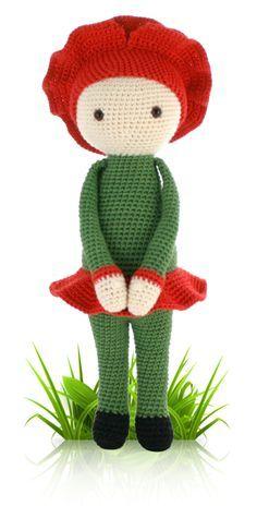 Amapola Paola - crochet patrón de amigurumi por Zabbez / Bas den más valiente