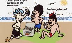 Cerveza Corona; Cantalicio, El Men y Joe en la playa