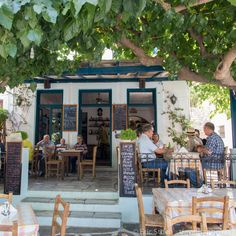 Lunch in Filoti, Naxos, Greece.