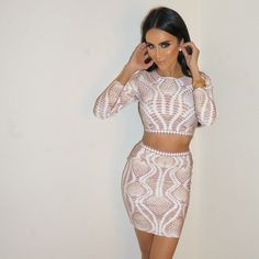"""About tonight. Wearing the ""Mason Bandage Two Piece Set"" from @Posh_Shop_LA  #GhalichiGlam"""