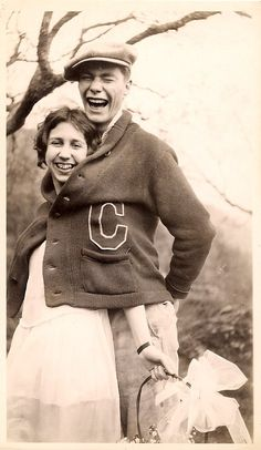 Sharing some laughs, c. 1920s.