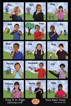 First Signs Poster - ASL Lenticular Poster Sign Language For Kids, Sign Language Alphabet, Sign Language Phrases, Sign Language Interpreter, British Sign Language, First Language, English Language, Baby Sign Language Chart, Sign Language Colors