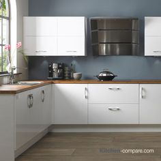9 Best Contemporary White Gloss Kitchens Images On Pinterest