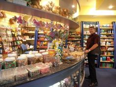 A happy customer at the Friends Shop, the Royal Perth Hospital