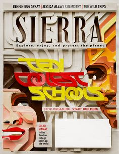 Sierra Magazine Cover by Charles Williams, via Behance