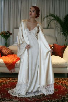 A great romantic or bridal shower gift!Saltwater Pearls Peignoir Robe