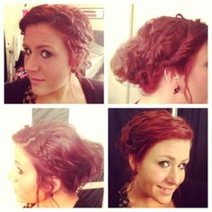 Red hair, updo, easy hair style