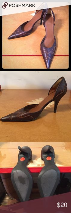 Zara Pumps Size 37 Great Condition! Elegant pumps with inlaid leather and intricate stitching. Great condition, no heel scuffs, ready to put on and go! Zara Shoes Heels