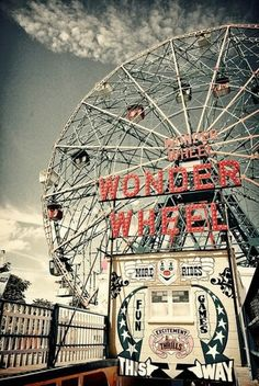 I definitely want to go to Coney Island! In Coney Island, there's 3 miles of sandy beach. It is also a good idea to check out Luna Park (a theme park), New York Aquarium, the Abe Stark Ice Skating Rink, or MCU Park (a minor league baseball stadium). Coney Island, Oh The Places You'll Go, Places To Visit, Fun Park, New York City, A New York Minute, Voyage New York, Carrousel, Belle Photo