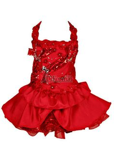Girls Pageant Dresses - Lil Allie Girls dress Halter style bodice with square neckline and rosettes on the halter strap. Glitz Pageant Dresses, Pagent Dresses, Girls Dresses, Formal Dresses, Toddlers And Tiaras, Dress Outfits, Girl Outfits, Short Girls, Designer Dresses