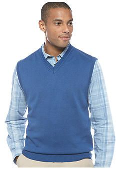 Black Brown 1826 Supima Sweater Vest #belk #mens Fashion