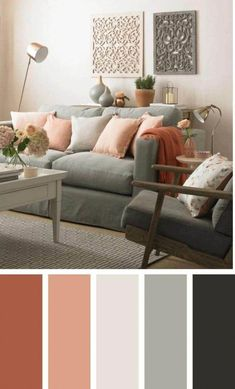 √ 35 Best Living Room Color Schemes Brimming With Character 2019 The most popular new modern living room color schemes that will make your room look professionally designed to get that fixer upper style. Living Room Colour Design, Modern Living Room Colors, Living Room Color Schemes, Paint Colors For Living Room, Bedroom Colors, Living Room Designs, Home Color Schemes, Popular Color Schemes, Interior Design Color Schemes