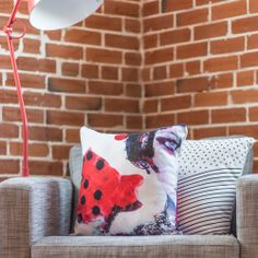 Bold + artsy throw pillows