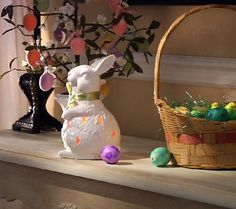 A hoppy little light. Adorn your home for spring with this adorable ceramic flameless candle holder. The white rabbit has teardrop-shaped cutouts to let the light shine through; its surface is embossed to create a fur-like texture. From Home Reflections(R) Flameless Decor. QVC.com