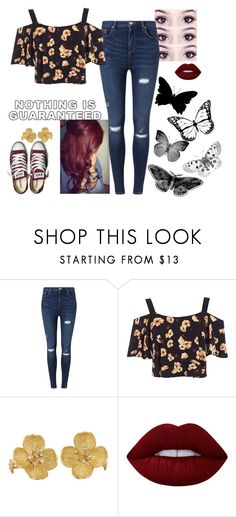 """""""Guaranteed? Nah."""" by lifesucks-musichelps ❤ liked on Polyvore featuring Miss Selfridge, Converse and Lime Crime"""