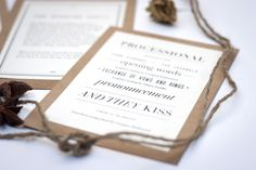 Line breaks and font variety. simplicity.    Get Hitched by Charlotte Fosdike, via Behance