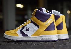 as #Converse really gone and horded the best of the Converse #Weapon pairs for that sneaker's 2014 return? It sure seems that way, as this iconic #Lakers colorway is again rendered as a promo-only pair. So while you might not be able to get your hands on them too easily, what you can do is marvel at the materials used on this latest iteration of the Johnson shoe in question.