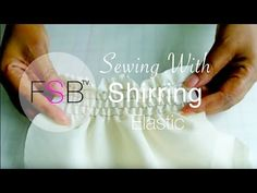 Sewing with Shirring Elastic. Sewing with Shirring Elastic. Sewing with elastic can be a daunting task. In this tutorial I will show you how easy it can be to use. This technique can transform the look of any sewing project. Sewing Elastic, Elastic Thread, Yarn Thread, Thread Art, Sewing Basics, Sewing Hacks, Sewing Tutorials, Sewing Projects, Sewing Patterns