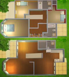 Sims 2 House, Sims 4 House Plans, Sims 4 House Building, Sims 4 House Design, House Floor Plans, Sims 3 Houses Ideas, Sims 4 Houses Layout, House Layouts, Sims Ideas