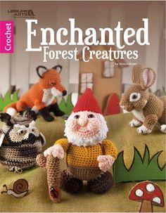 Fans of fantasy lore will love these easy-to-crochet gnomes, fairies, and woodland animals. Invite a little magic into your life with lovable fantasy characters