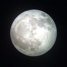 The moon tonight (iPhone through a telescope, sharpened in Photoshop Express) by Jon Hicks.