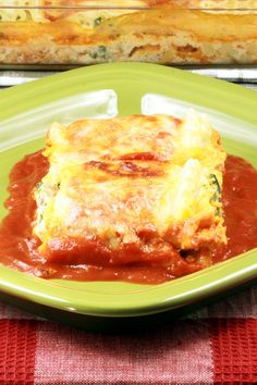 Spinach and Cheese Lasagna Rolls Recipe with Nutmeg, Ricotta Cheese ...