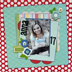 "Anna-17 ""My Creative Scrapbook"" - Scrapbook.com - Very pretty colors together. #scrapbooking #layouts #americancrafts"