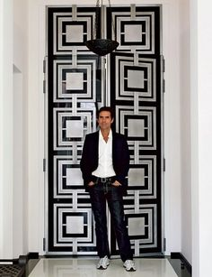 Pierre Yovanovitch reimagined his Paris apartment—in shambles the first time he saw it—reconfiguring rooms and unifying the interior elements. Door Gate Design, Door Design Interior, Front Door Design, Entrance Design, Interior Barn Doors, Exterior Doors, Modern Interior Design, Interior Design Inspiration, Contemporary Interior