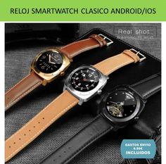 349219c05491 Reloj Smartwatch DOMINO correa cuero bonito y barato compra online en  tienda  Relojes inteligentes Smartwatch - Tienda online YOUGAMETRONICA