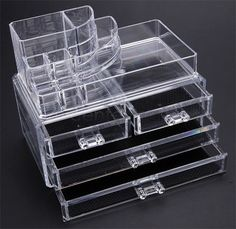 Acrylic Cosmetic Organizer - Jewelry Box - Makeup Display