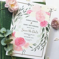 Hand painted, bespoke Save the Date with a hint of gold foil.  #floralinvitations #watercolourinvitations #bespokeweddingstationery #weddingstationery #savethedates #savethedate #eucalyptuswedding #eucalyptusinvitation #floraldesign #weddingflorals #goldfoilinvitation #goldfoil #watercolourstationery