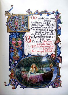 "Illuminated work ""The Lady of Shalott"" by SANGORSKI, Alberto"