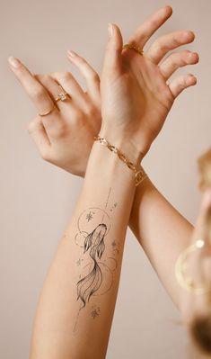 Small White Tattoos, Small Fish Tattoos, Mini Tattoos, Small Feminine Tattoos, Elegant Tattoos, Simplistic Tattoos, Unique Tattoos, Unique Small Tattoo, Small Mermaid Tattoo