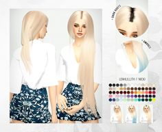 LeahLillith Nicki Hair Retexture at Miss Paraply • Sims 4 Updates