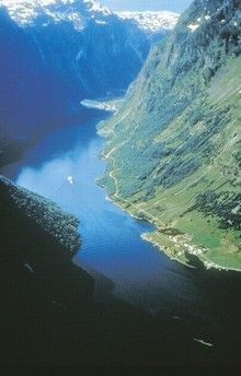 Sognefjord, Norway- country's longest and deepest. Go on a boat tour from the tiny harbor town of Balestrand, or the Flam Railway up an arm of the fjord. it's the steepest unassisted railway climb in the world! Places Around The World, Oh The Places You'll Go, Places To Visit, Need A Vacation, Vacation Spots, Harbor Town, Scandinavian Countries, Cruise Destinations, Norway Travel